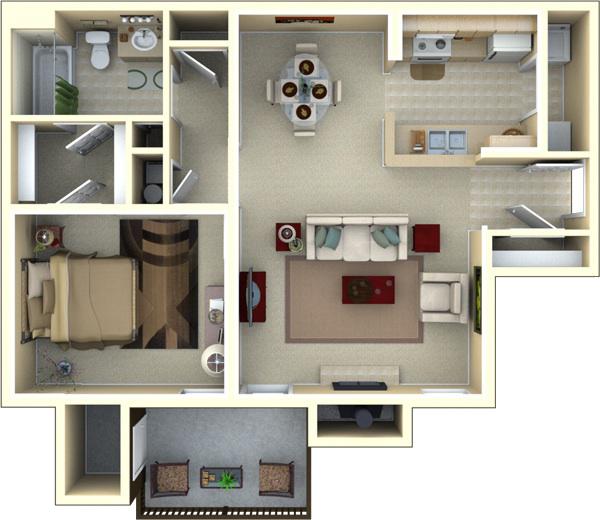 One Bedroom Floor Plan! EaglesLanding Tallahassee