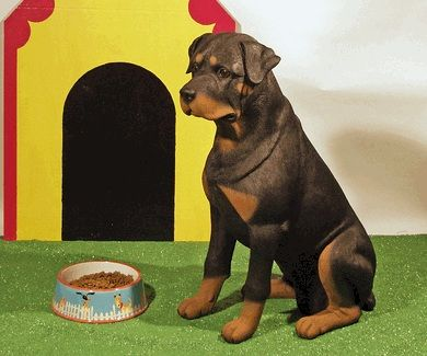 Lifesize Figurine Dog Urns Rottweiler Monstermarketplace Com