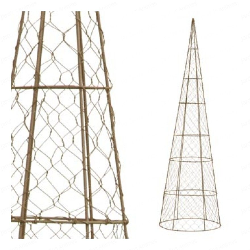 Cone Topiary frame from tomato cage and chicken wire. | In my garden ...