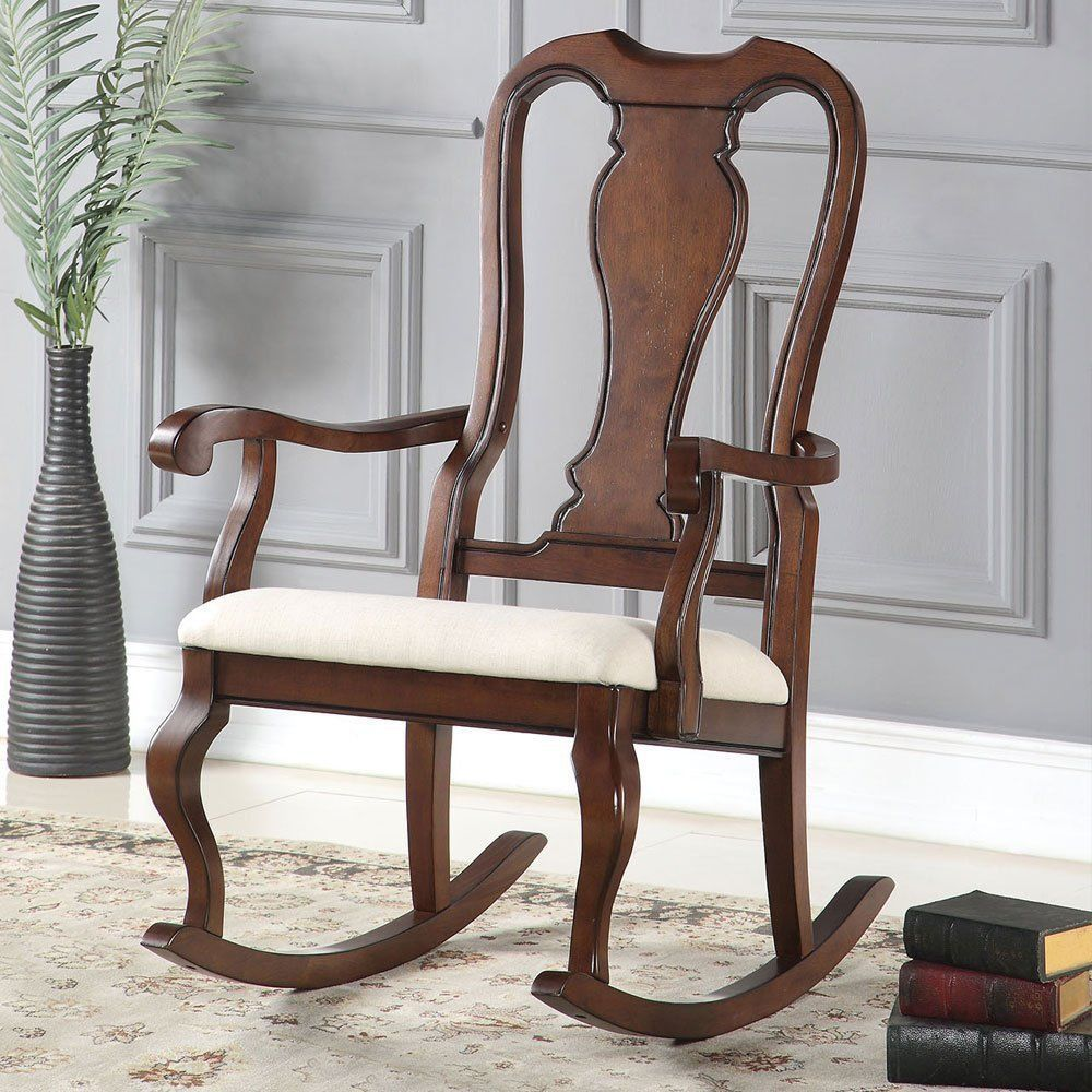 Cherry wood rocking chair baby rocker nursery living room 1perfectchoice colonial