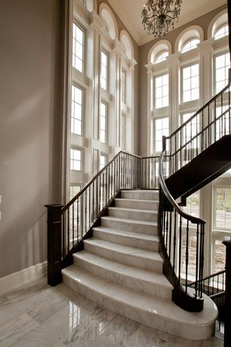 Fourteen Estates Lot 15 Traditional Staircase Toronto | Deluxe Stair And Railing | Stainless Steel Stairs | Houzz | Barclay Hollywood | Mg Alloy | Interior Stair
