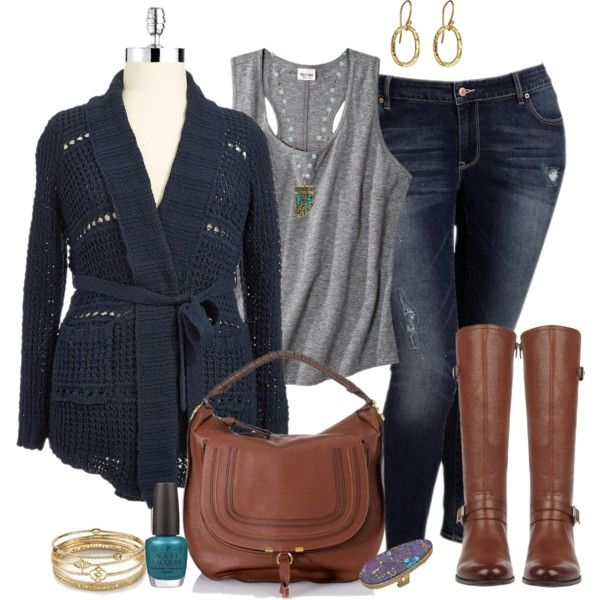 "#plus #size #outfit  ""Casual Blues - Plus Size"" by alexawebb on Polyvore"