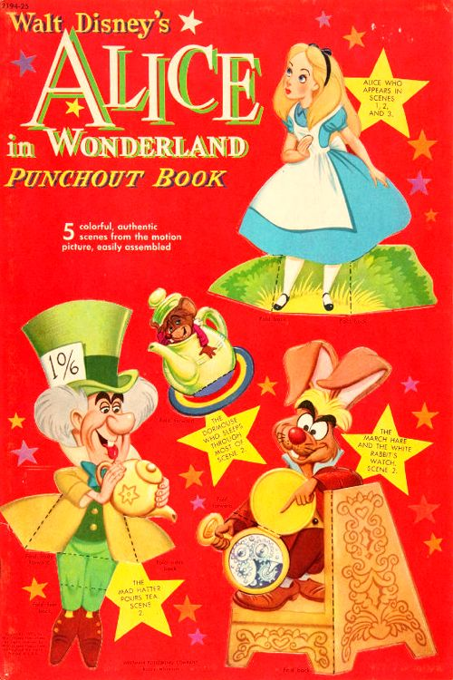 Alice in Wonderland Punchout Book: Whitman Publishing (USA), 1930s