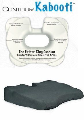 Contour Products Kabooti Comfort Ring Donut Coccyx Cushion