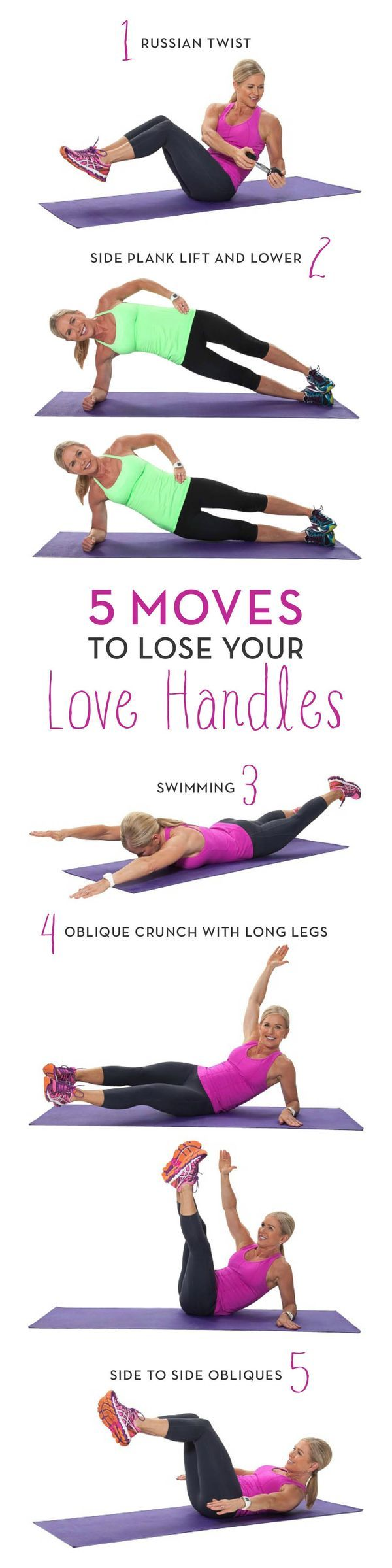 Lose those love handles for good with these 5 moves to tighten and tone your entire core. Strong is IN!