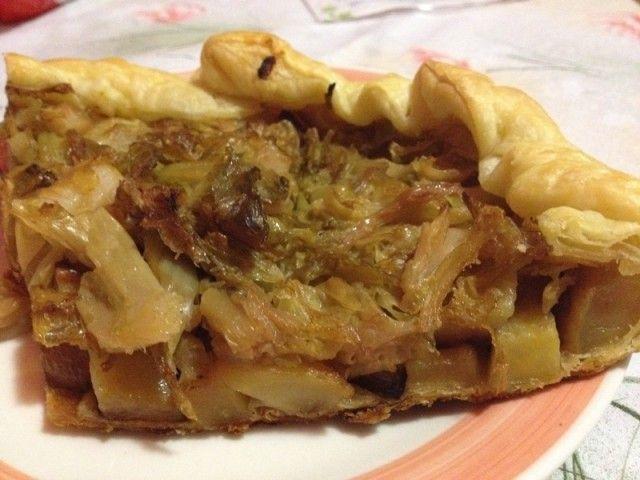 Torta salata patate e verza vegan blog ricette vegan for Cucinare vegetariano