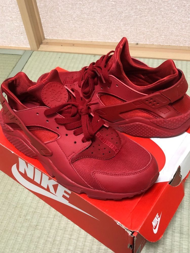 new concept 4f019 492a8 eBay link) Nike Air Huarache Varsity Red Size 12 #fashion ...