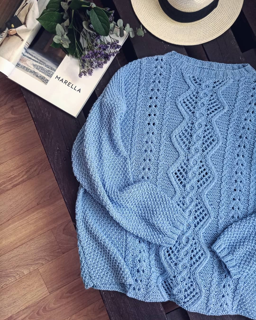 #sweater #oversize #knittingsweater #knit #style cotton #вязаныйсвитер #хлопковыйсвитер #джемпер