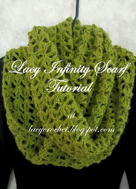 Lacy Crochet: Lacy Infinity Scarf Tutorial   Puntaditas 2 ...
