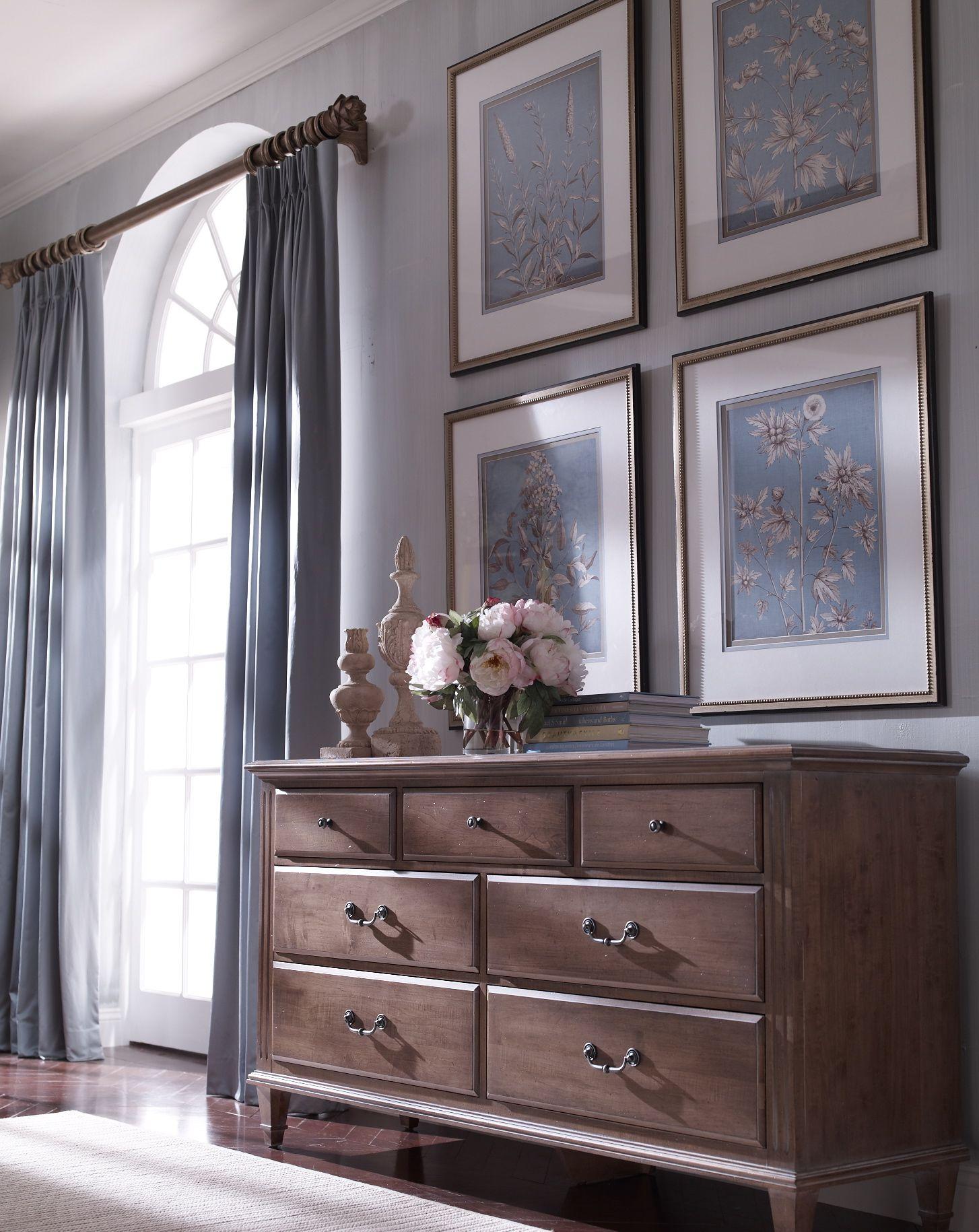 Instead Of A Mirror Hang Artwork Above A Dresser Bedroom