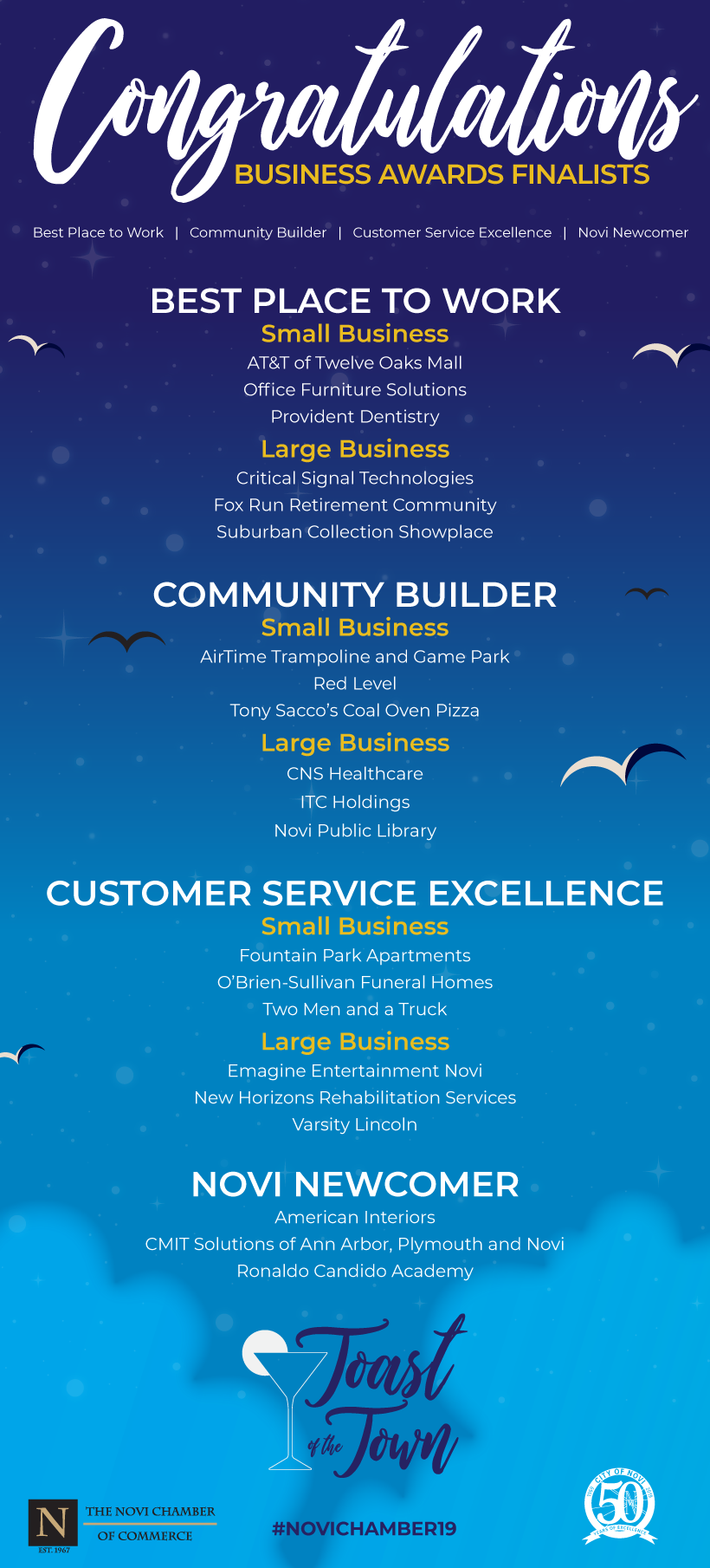 Cns Healthcare Is A Finalist For The Novi Community Builder Award Thank You Novi Chamber Of Commerce For Business Awards Office Furniture Solutions Oaks Mall