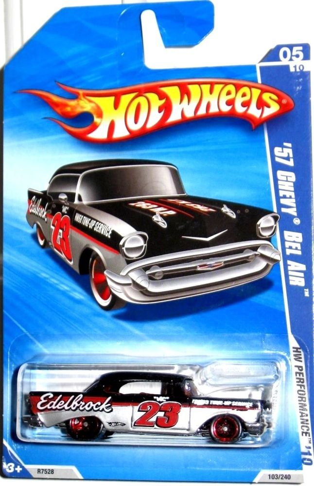 2010 Hot Wheels 1957 Chevy Bel Air Edelbrock Hw Performance Walmart