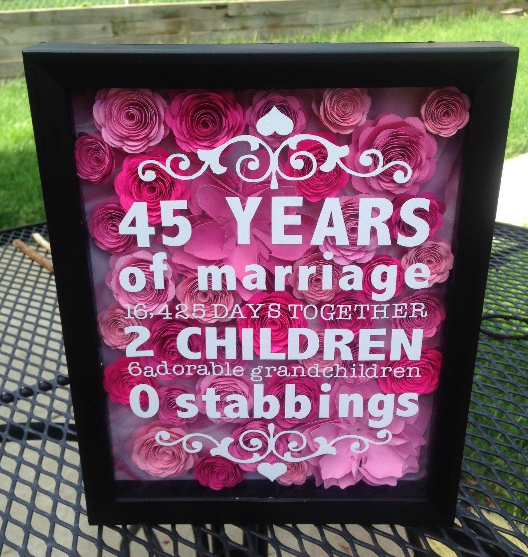 8 x 10 flower shadow box anniversary gift wedding gift
