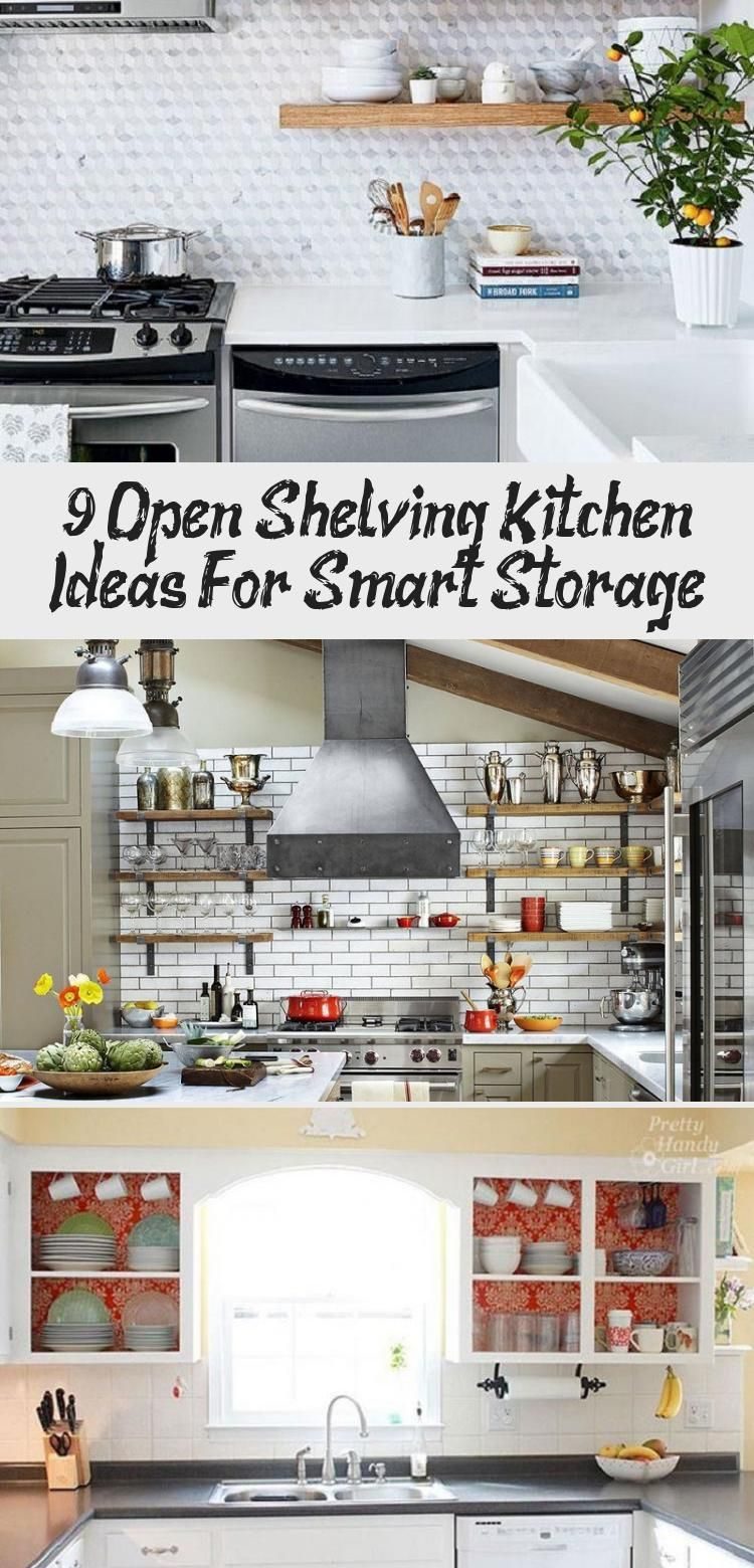 9 open shelving kitchen ideas for smart storage cabinetstorage kitchen openshelving on farmhouse kitchen open shelves id=49723