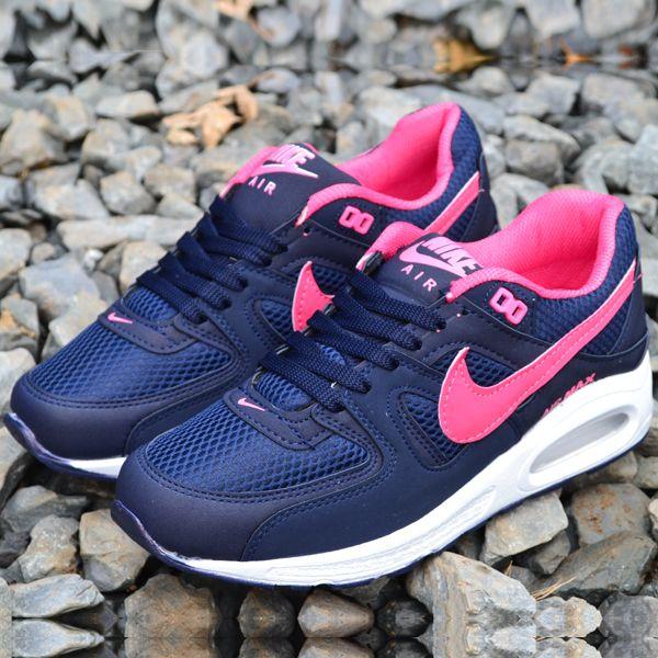 Nike Air Max Lacivert Fusya Bayan Ayakkabi Spor Nike Air Max Nike Air Nike