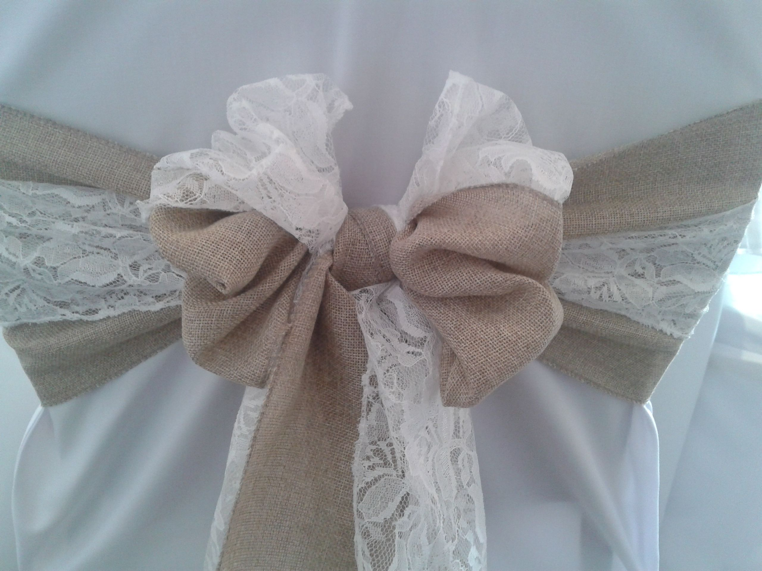 Simply Bows And Chair Covers Newcastle Antique Dining Chairs Value Burlap Lace Sash By