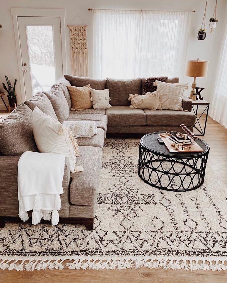 Contemporary Gray 2 Piece Sectional Sofa With Raf Sofa Dayton In 2020 Boho Living Room Living Room Decor Cute Living Room