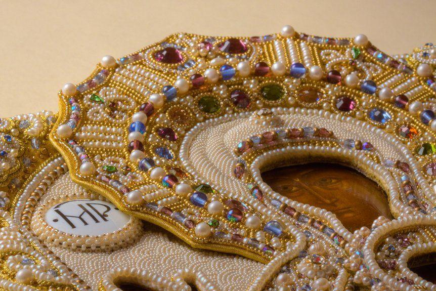 close up of beadwork by irina rudneva
