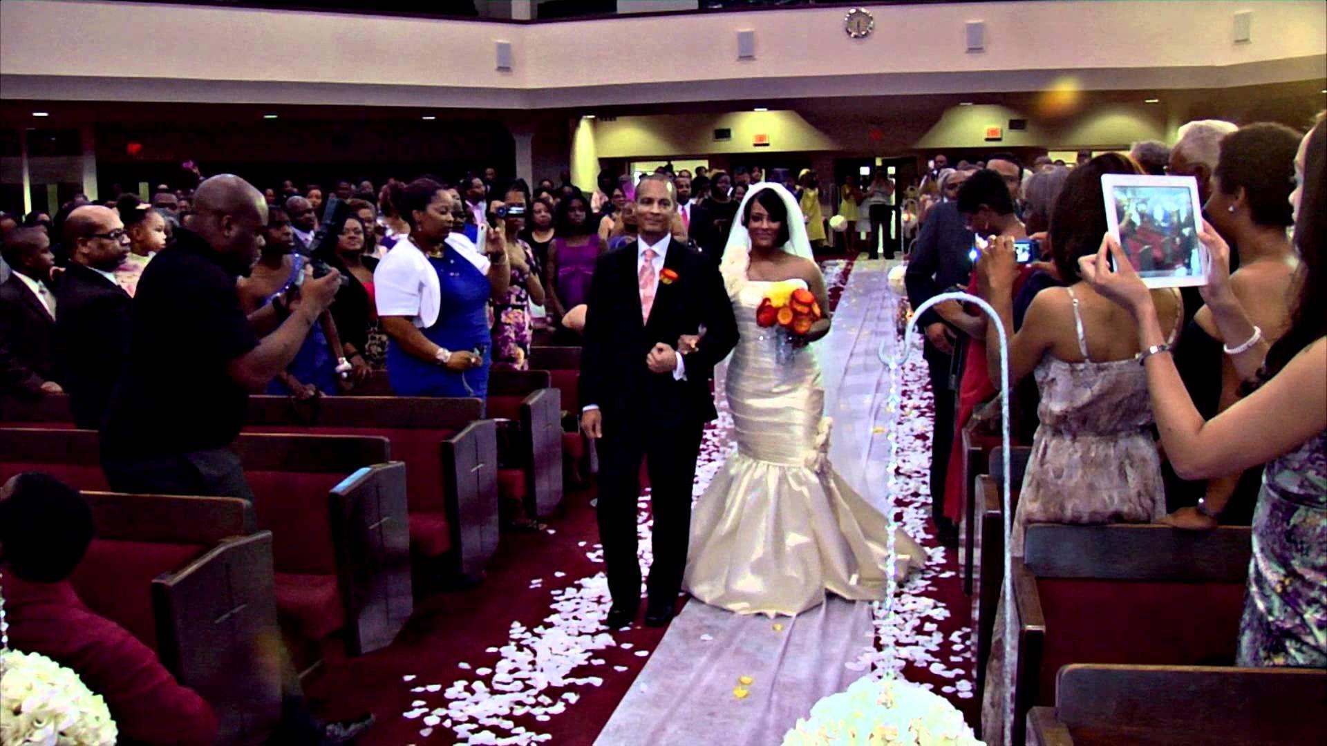 Bridal entrance brandon and christius wedding wedding glamour