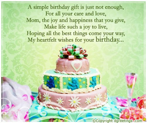 Heart Touching Birthday Wishes For Mom