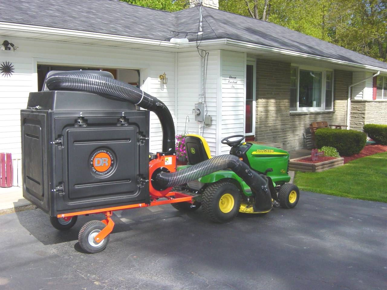 John Deere Lawn Vacuum The Amazing Dr Leaf And