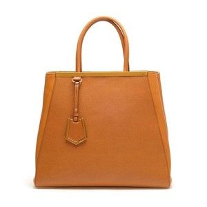 FENDI Large Grained Leather Shopper Bag - Polyvore