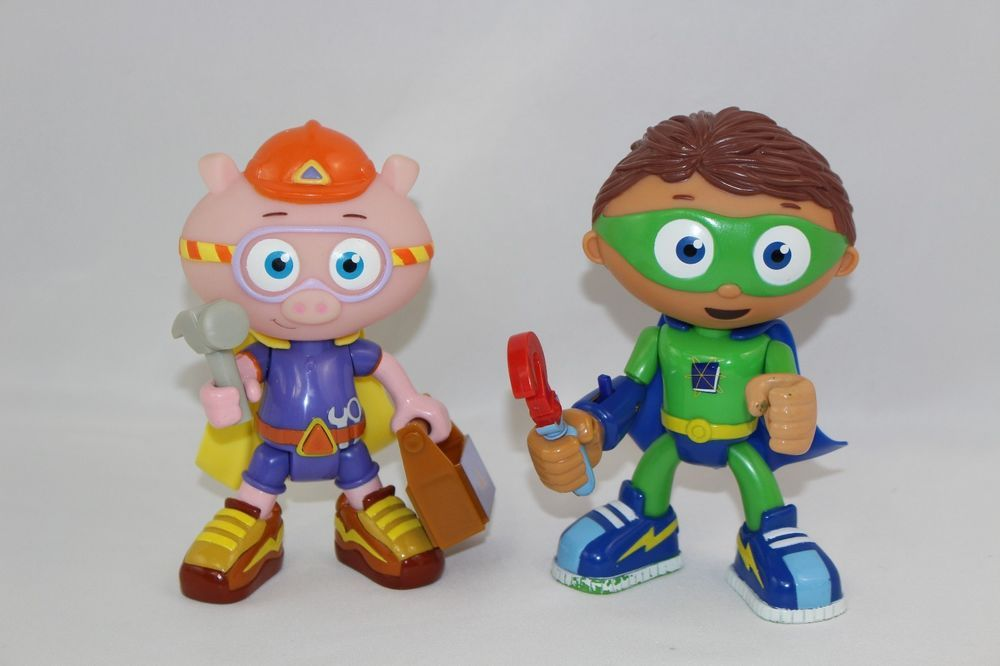 "Kids Toys Action Figure: Super Why Wyatt Whyatt And Alpha Pig 6"" Action Figures"