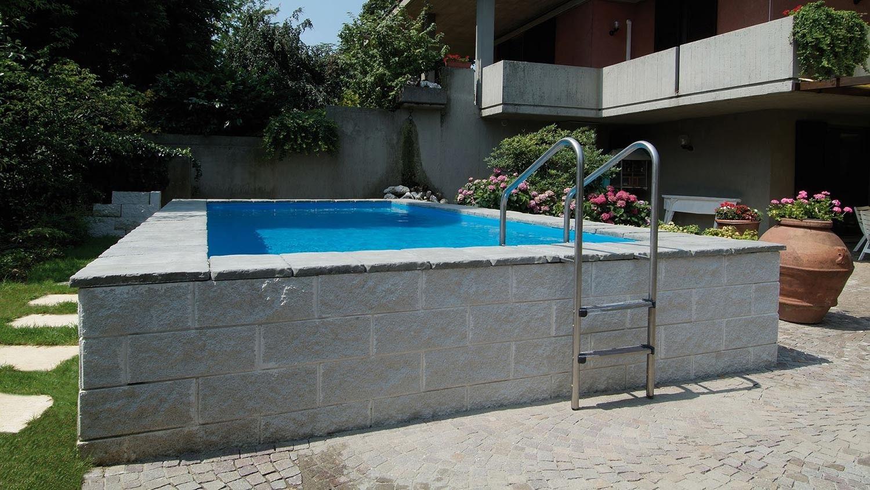 Piscina laghetto dolce vita gold semi 1500 844 piccole piscine pinterest - Piscina seminterrata prezzi ...