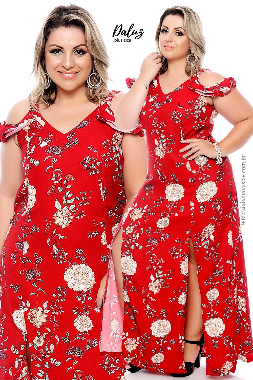 01ec8ae50 Vestido Plus Size - Alto Verão 2018 - www.daluzplussize.com.br ...