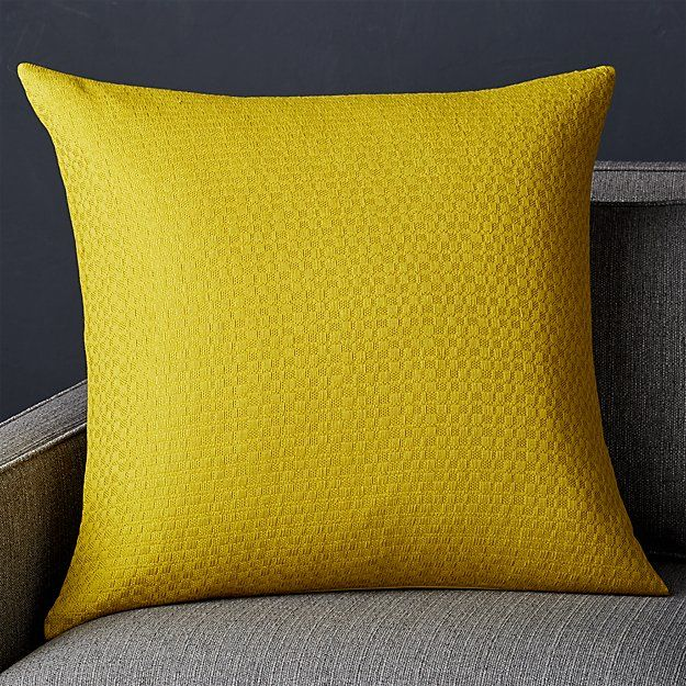 """Duram Golden Olive Pillow 23"""" Crate and Barrel Crate"""