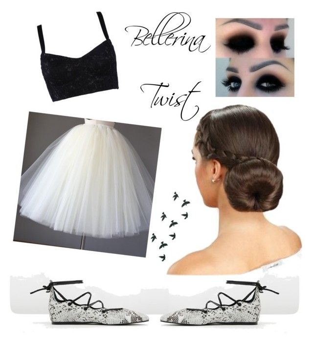 """""""Ballerina Twist"""" by thistleofmilk ❤ liked on Polyvore featuring Sol Sana and Dolce&Gabbana"""