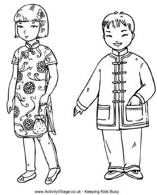 Children around the world coloring pages Color People Fashion
