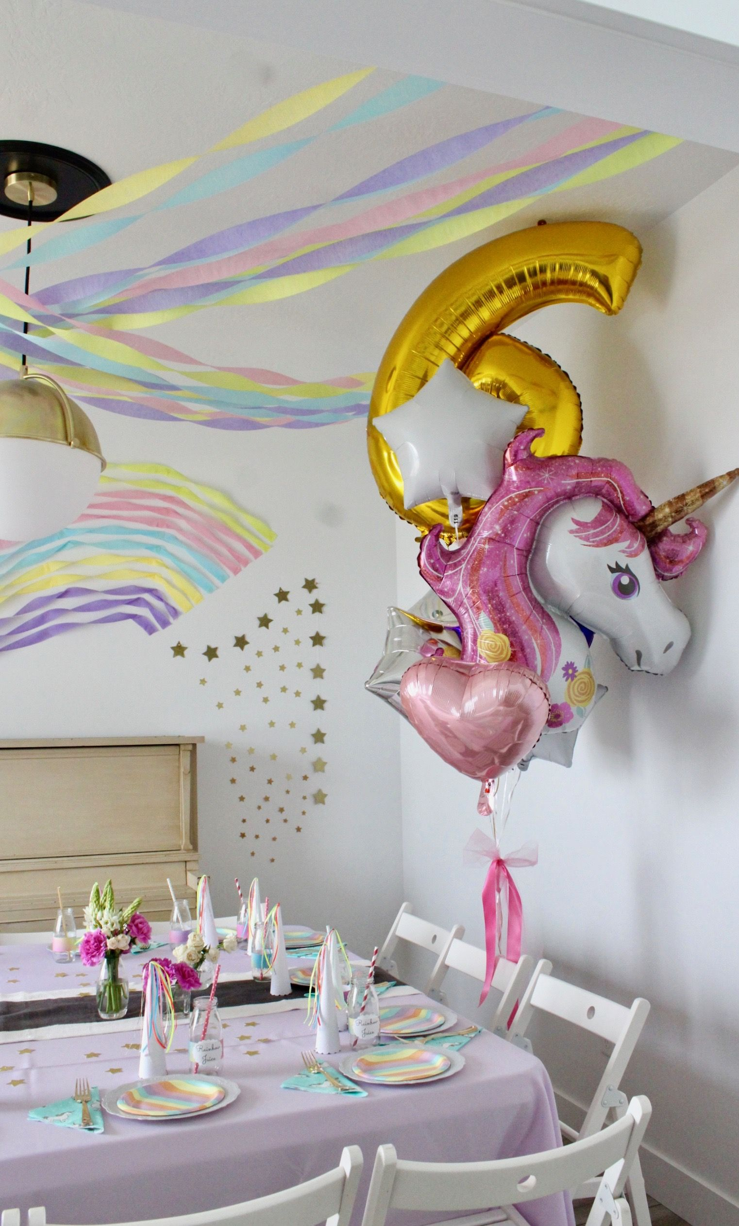 Streamer Decorations For 6 Year Old Unicorn Party