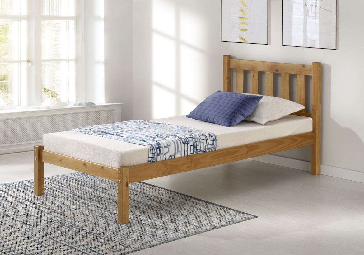 The Poppy Twin Bed Ships Complete With Headboard Low Footboard Slats The Poppy Style Is Available In Twin And Bed Storage Drawers Solid Wood Bed Furniture