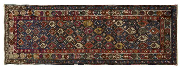 Antique Caucasian Karabagh Runner Circa 1870s This