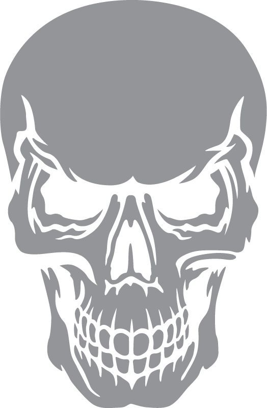 skull with angry expression   angry expression skull