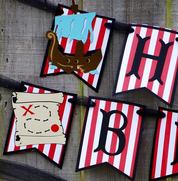 Adults Pirate Banner,Pirate Birthday Party Supplies Decorations,Pirate Pennant Birthday Banner Girls Boys Suitable for Kids