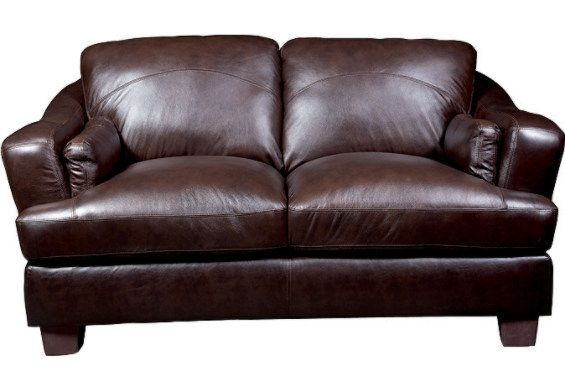 Sala Genuine Leather Loveseat Toreno Brown Leather Loveseat Love Seat Furniture