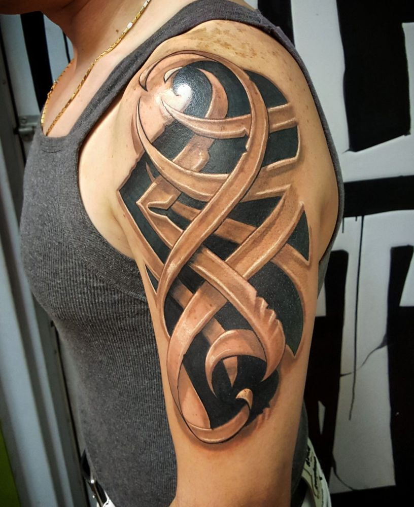 tribal 3d tattoo tattoos pinterest 3d tattoos tattoo and piercings. Black Bedroom Furniture Sets. Home Design Ideas
