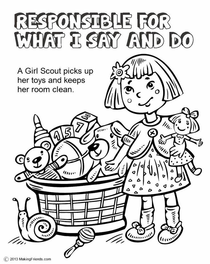 Girl Scout Law Coloring Book | Girl Scout Daisy Petal Coloring Pages ...
