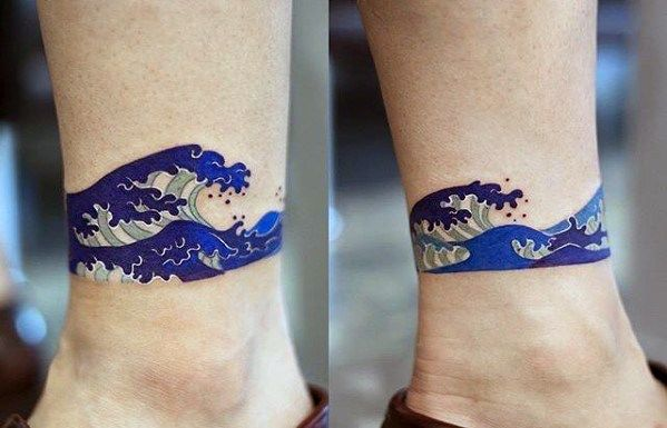 c57188964 50 Simple Wave Tattoo Designs For Men - Water Ink Ideas | Wave ...