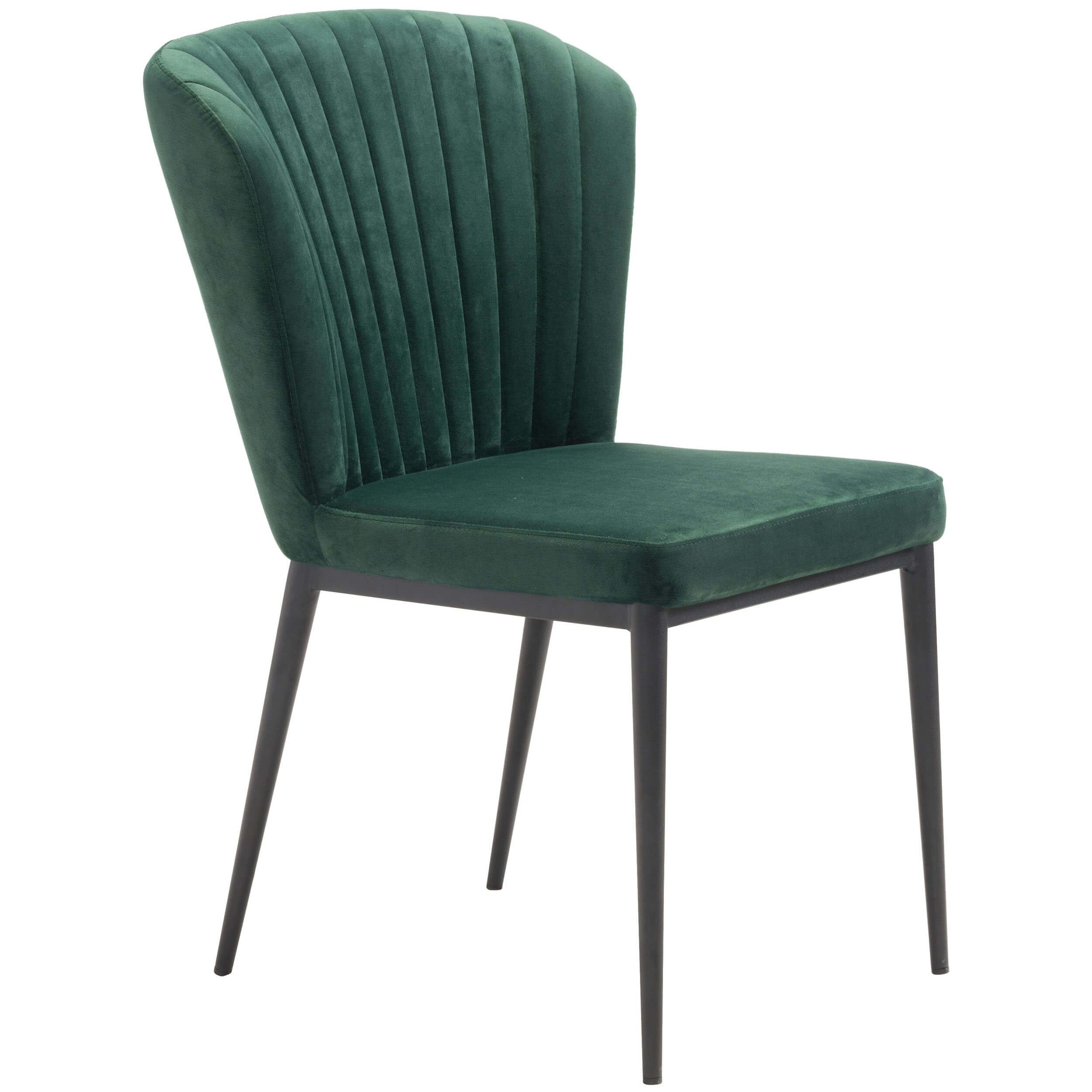 Tolivere Dining Chair Green Set Of 2 With Images Tufted