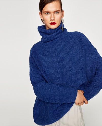 check-out 6fc17 539ba OVERSIZED ROLL NECK SWEATER-Sweaters-KNITWEAR-WOMAN | ZARA ...