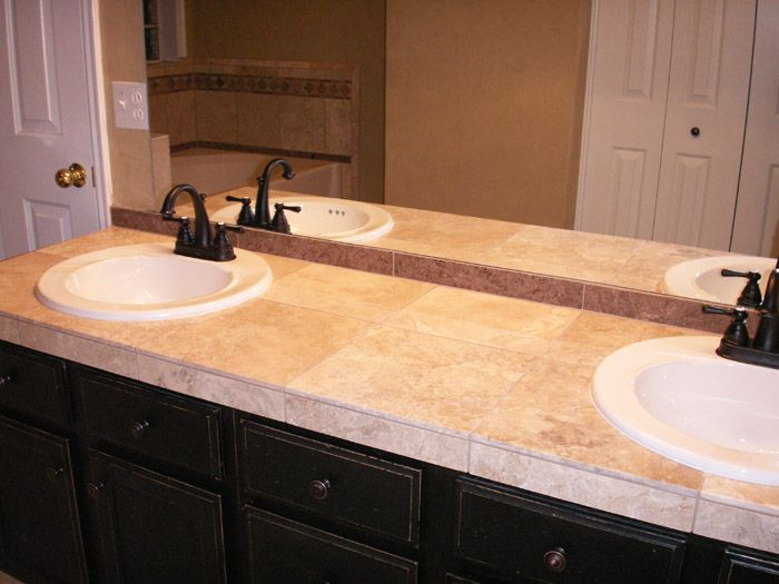 Tiled bathroom countertops Photo 6 Design your home Remodel