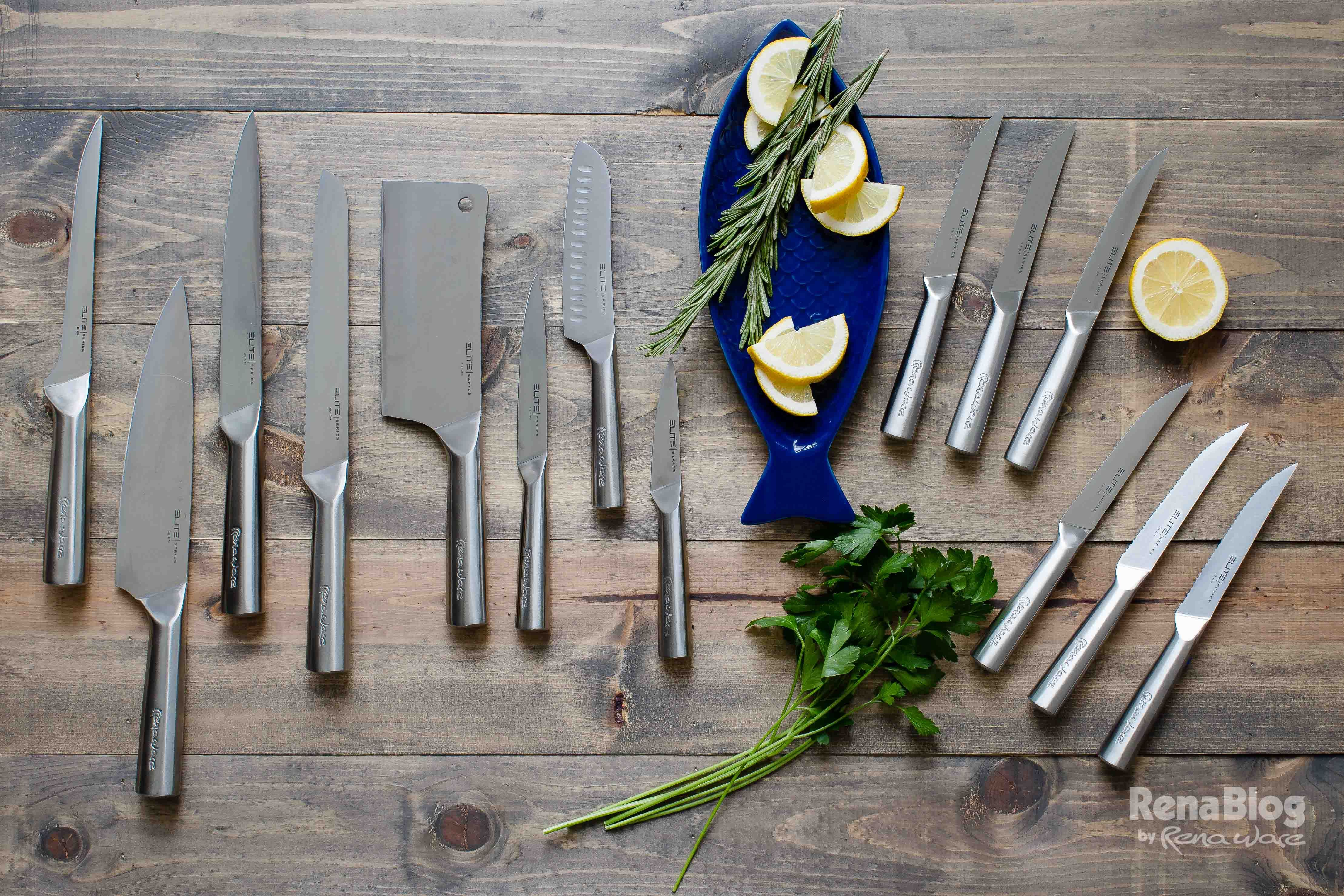 Juego de cuchillos rena ware cuchillos cubiertos y for Precios de utensilios de cocina rena ware