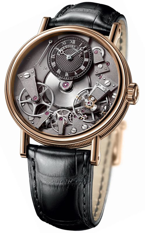 breguet tradition black skeleton dial 18kt rose gold black leather rh pinterest com Wind Up Watches Omega Watches for Men