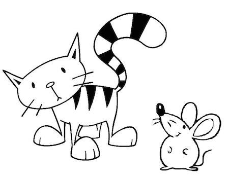 Cuento Infantil Corto Gato Y Raton Dibujos Cuento Infantiles