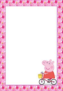 Marcos invitaciones tarjetas o etiquetas de peppa pig for Pepa en la piscina
