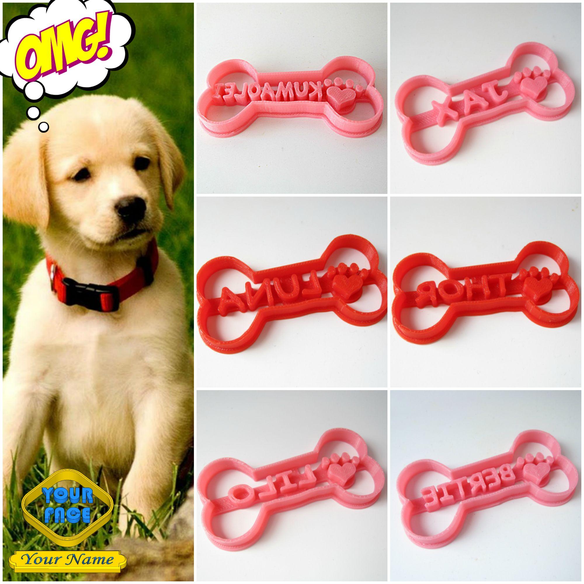 Dog Bone Custom Cookie Cutter Fondant Cutter Stamp Diy Dog Treat