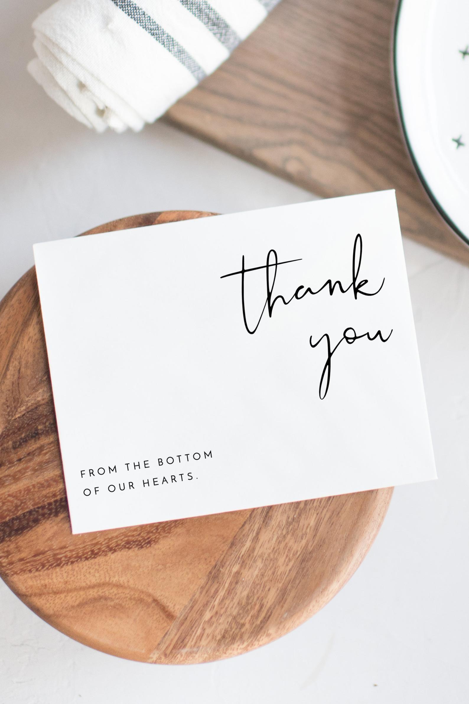 ADELLA  Minimal Thank You Card Template, Printable Thank You Card, Instant Download Thank You Cards, Templett Thank You, Modern Wedding DIY